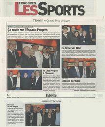 Le Progrès Sport, octobre 2008