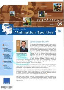 La Lettre de l'Animation Sportive, mars 2008