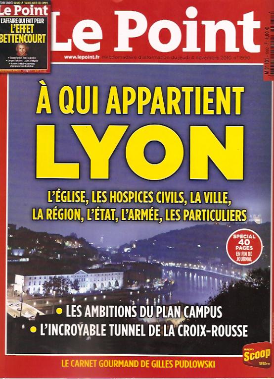 LE POINT - Novembre 2010