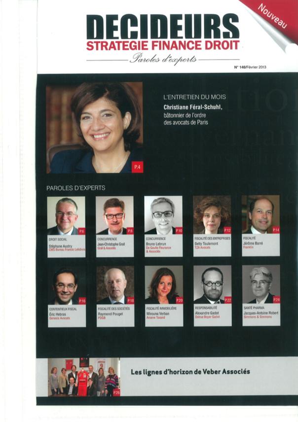 DECIDEURS Stratégie, Finance, Droit- février 2013