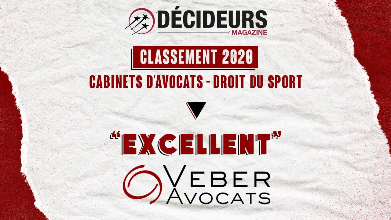Veber Avocats parmi les meilleurs cabinets français en droit du sport